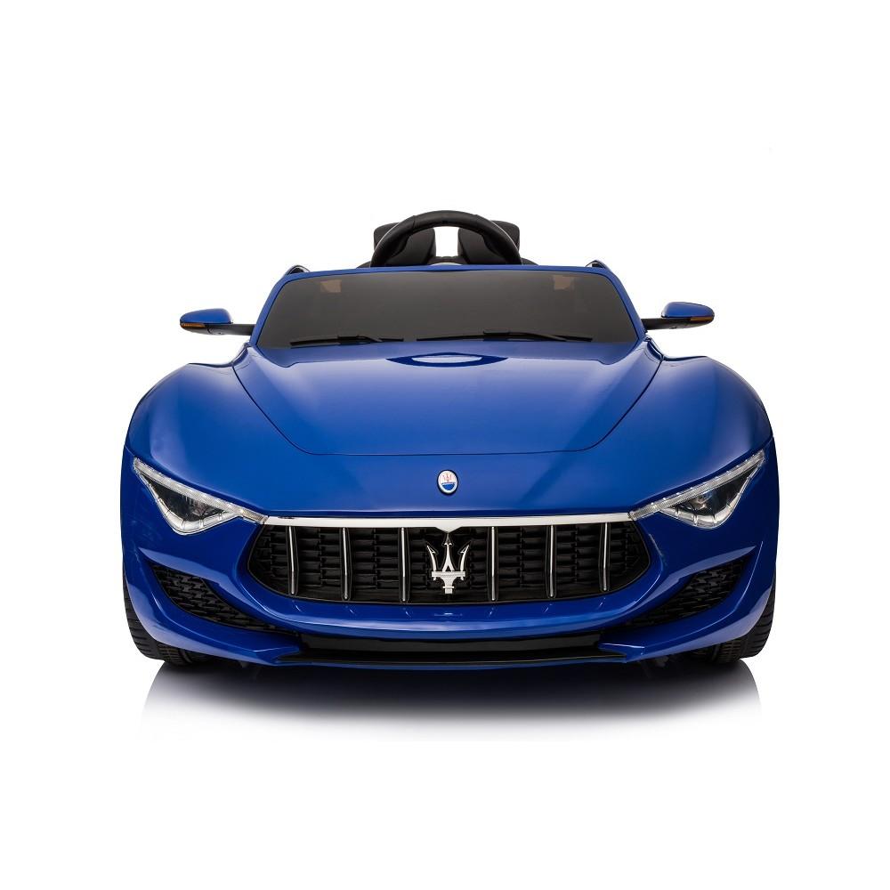 Masinuta electrica cu roti din cauciuc Maserati albastru - 6