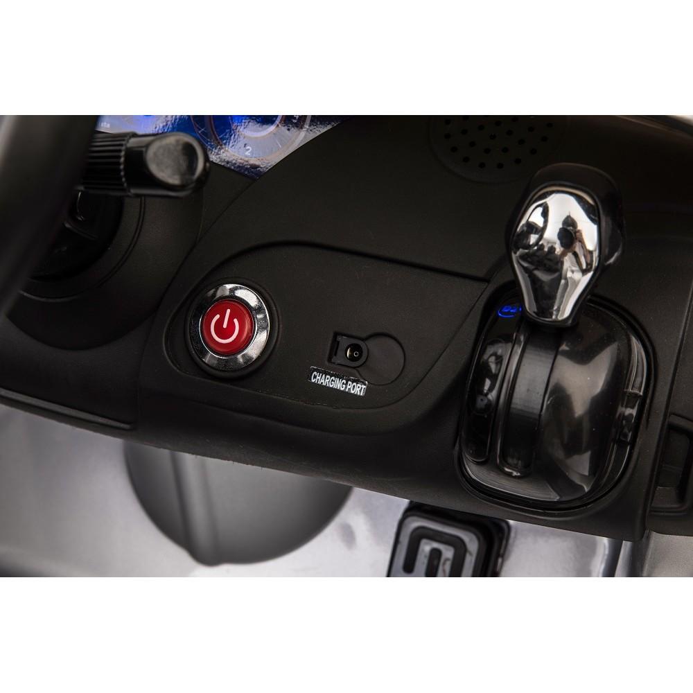 Masinuta electrica cu roti din cauciuc Maserati albastru - 5