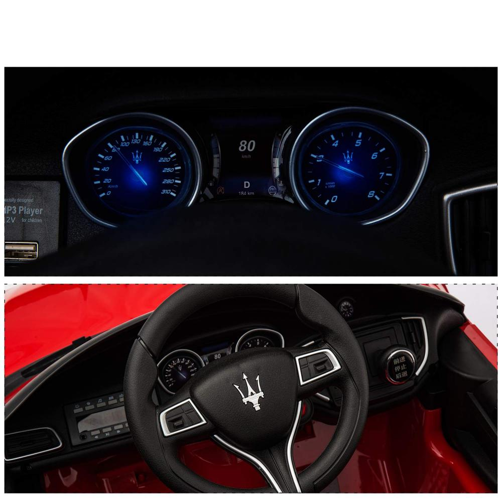 Masinuta electrica Maserati Ghibli cu roti din cauciuc Red