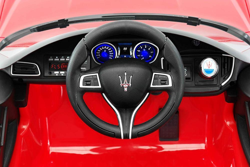 Masinuta electrica Maserati Ghibli cu roti din cauciuc Red - 1