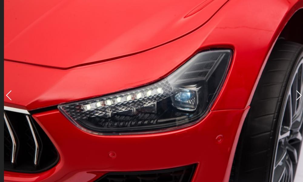Masinuta electrica Maserati Ghibli cu roti din cauciuc Red - 2