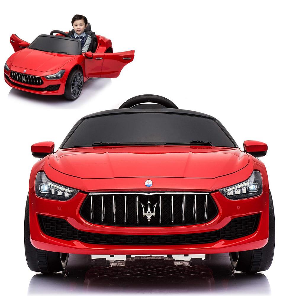 Masinuta electrica Maserati Ghibli cu roti din cauciuc Red - 3