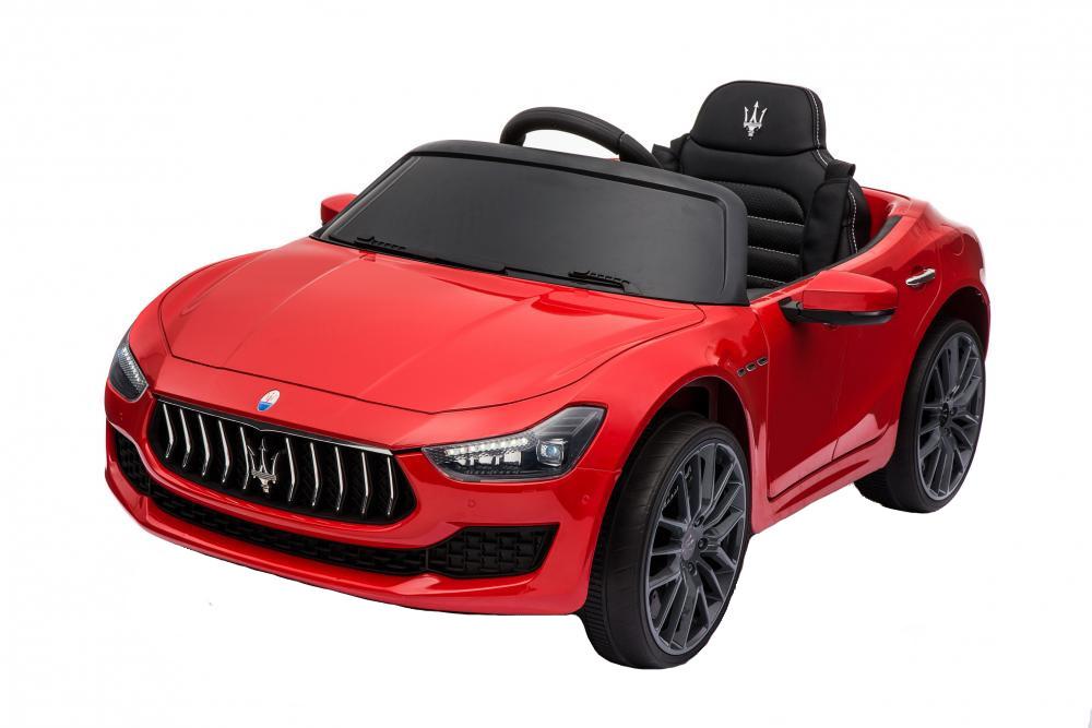 Masinuta electrica Maserati Ghibli cu roti din cauciuc Red - 9