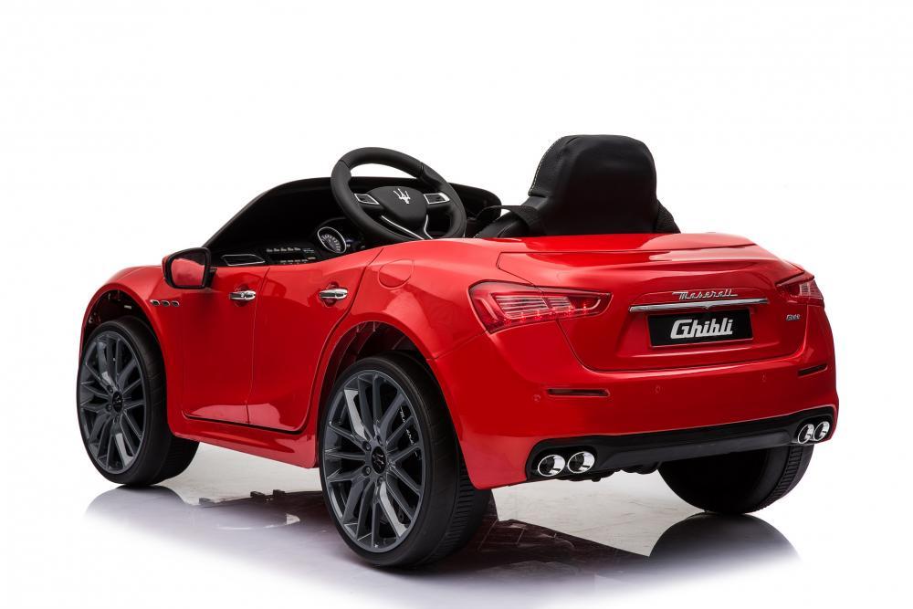 Masinuta electrica Maserati Ghibli cu roti din cauciuc Red - 5