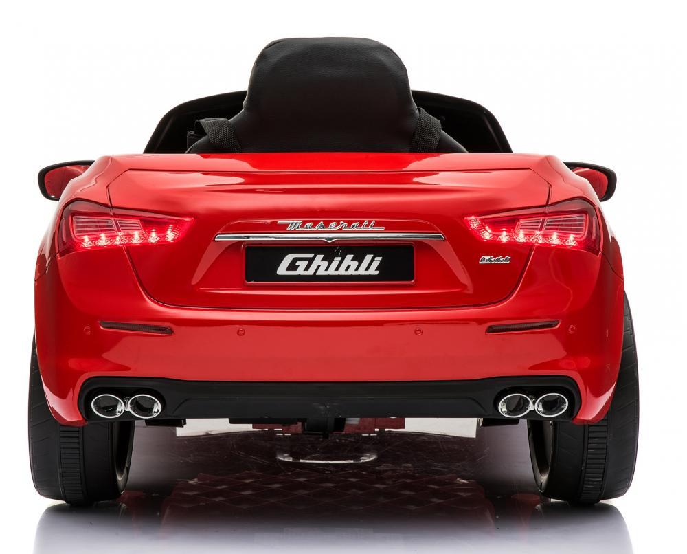 Masinuta electrica Maserati Ghibli cu roti din cauciuc Red - 6