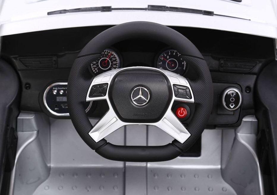 Masinuta Electrica 12v Mercedes Benz Ml 350 Cu Roti Eva Si Scaun De Piele Black