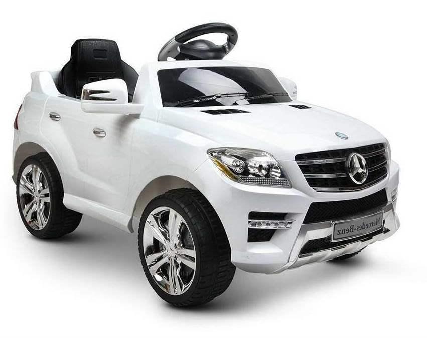 Masinuta electrica 12V Mercedes Benz ML 350 cu scaun de piele White