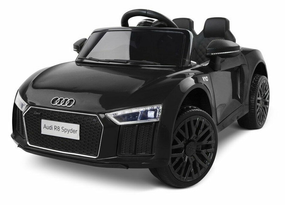 Masinuta electrica cu telecomanda 2,4 G si roti EVA Audi R8 Spyder Black