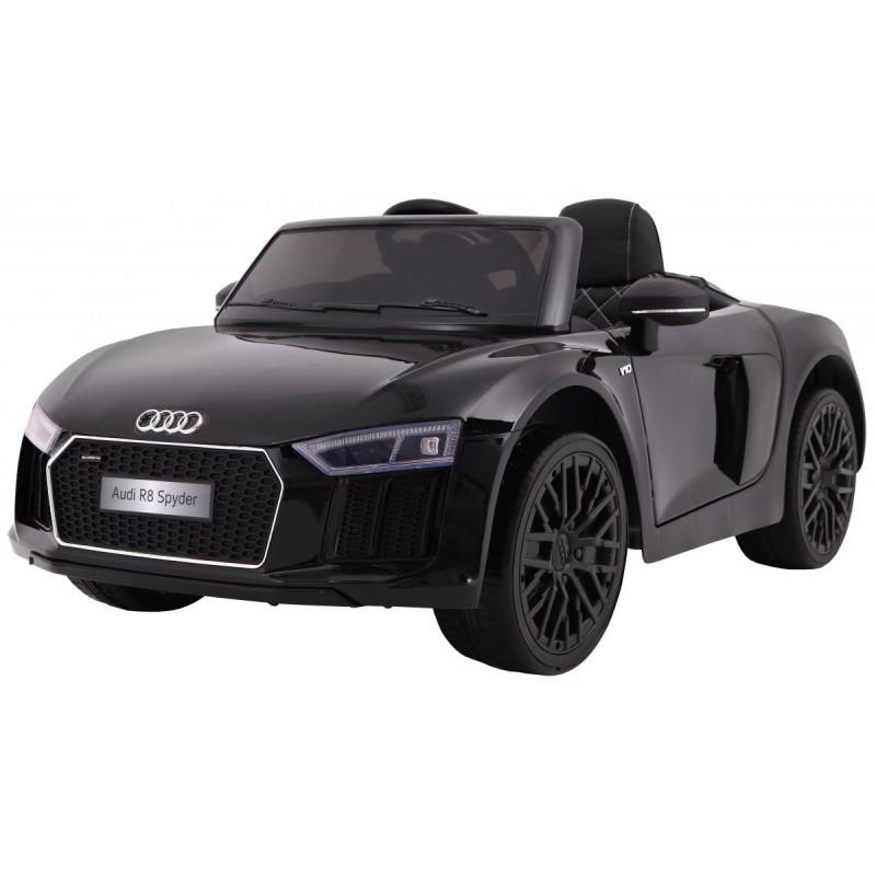 Masinuta electrica cu roti din cauciuc Audi R8 Spyder Black