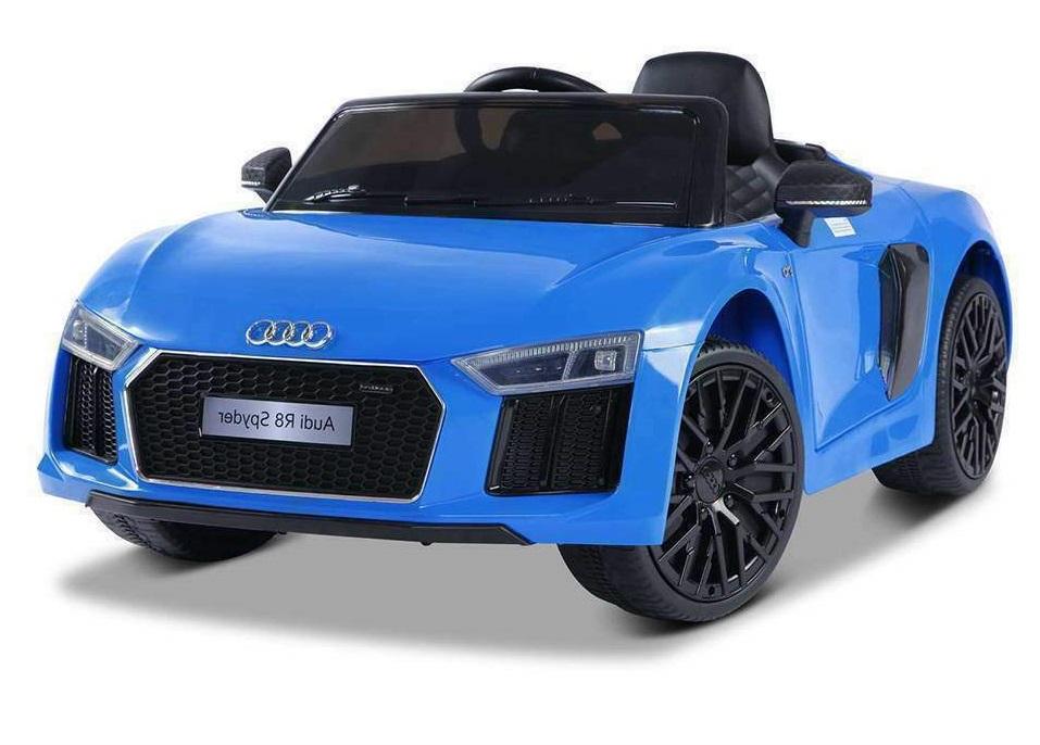 Masinuta electrica cu telecomanda 2,4 G si roti EVA Audi R8 Spyder Blue