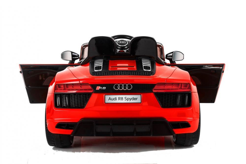 Masinuta electrica cu telecomanda 2,4 G si roti EVA Audi R8 Spyder Red