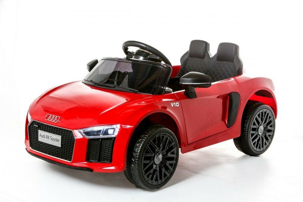 Masinuta electrica cu roti din cauciuc Audi R8 Spyder Red