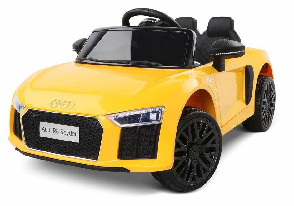 Masinuta electrica cu telecomanda 2,4 G si roti EVA Audi R8 Spyder Yellow