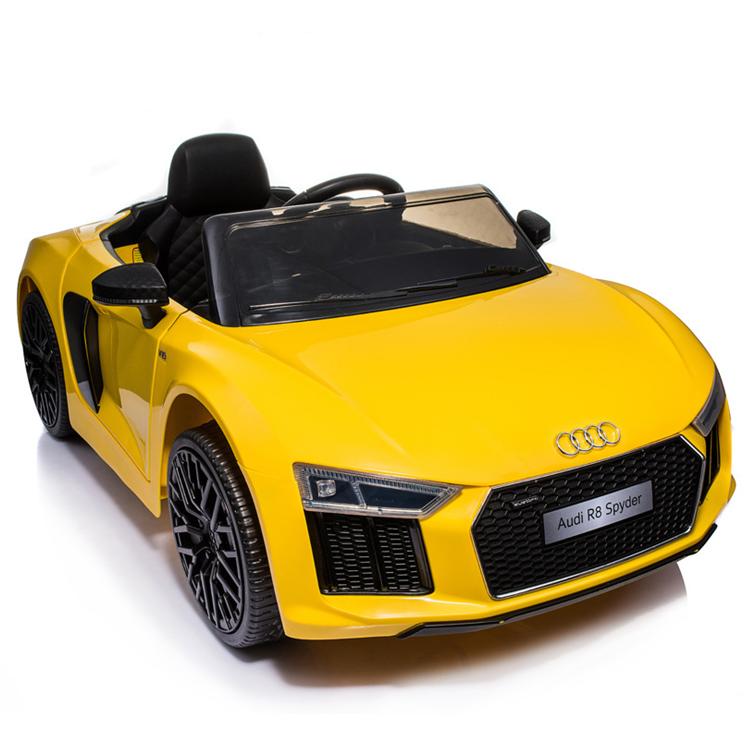 Masinuta electrica cu roti din cauciuc Audi R8 Spyder Yellow