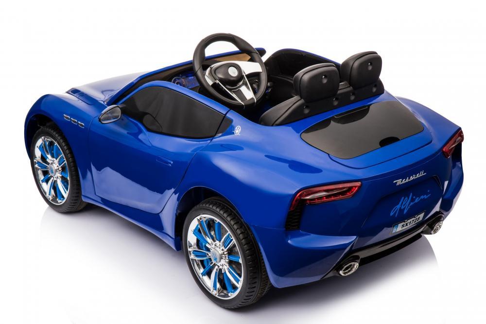 Masinuta electrica cu roti din cauciuc Maserati Alfieri Blue