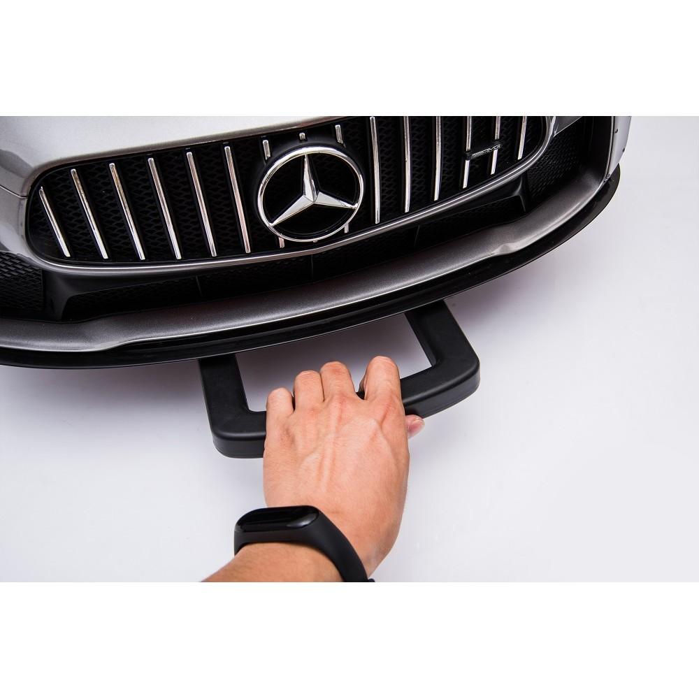 Masinuta electrica cu roti din cauciuc Mercedes GT4 alb