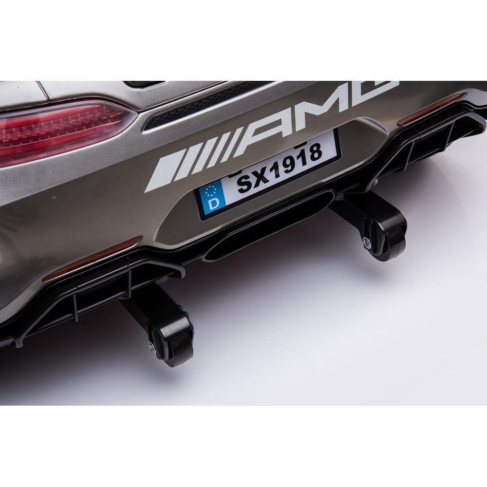 Masinuta electrica cu roti din cauciuc Mercedes GT4 alb - 1