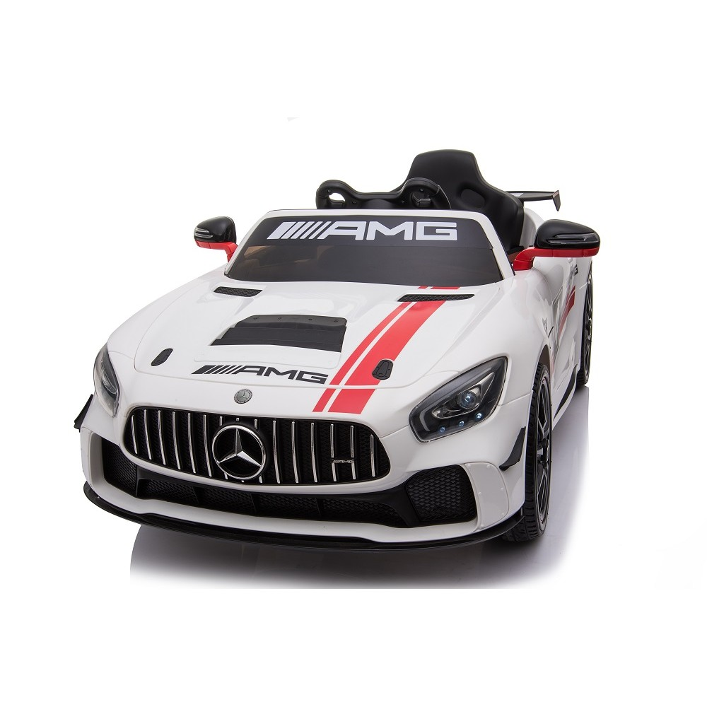 Masinuta electrica cu roti din cauciuc Mercedes GT4 alb - 4