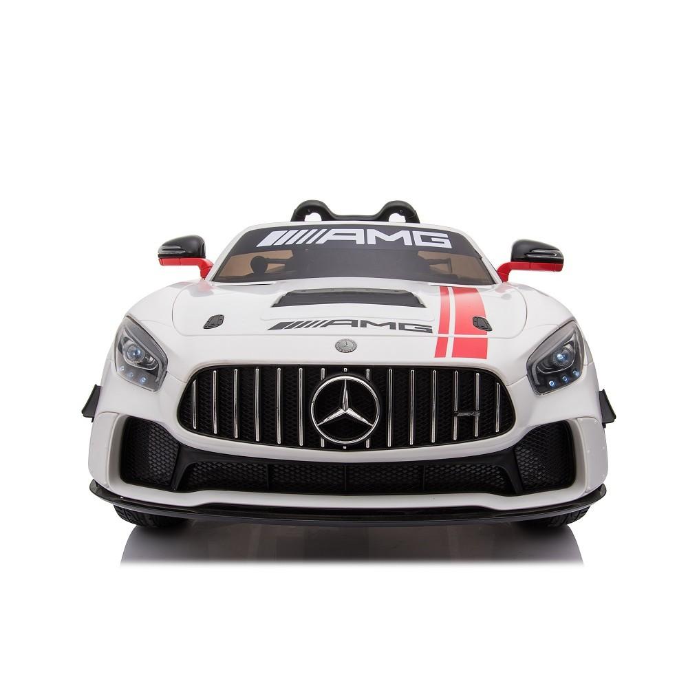 Masinuta electrica cu roti din cauciuc Mercedes GT4 alb - 3