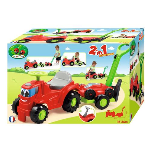 Mini Tractor cu Platforma si Masina de Tuns Iarba imagine