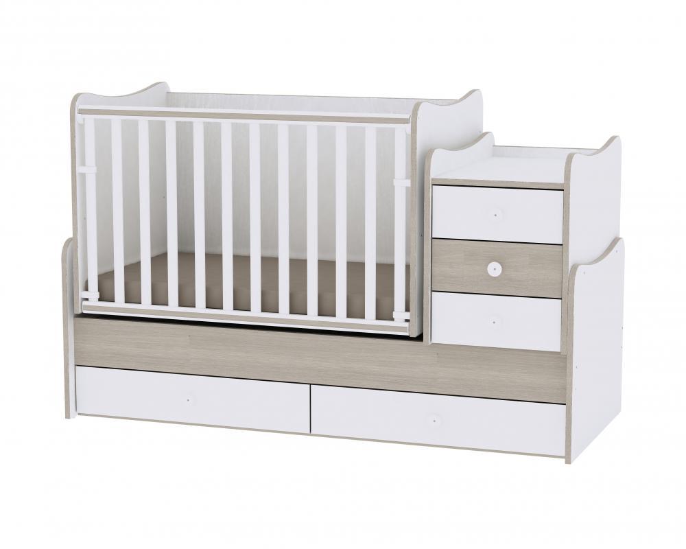 Mobilier transformabil Maxi Plus 70 x 160 cm White Amber din categoria Camera copilului de la LORELLI