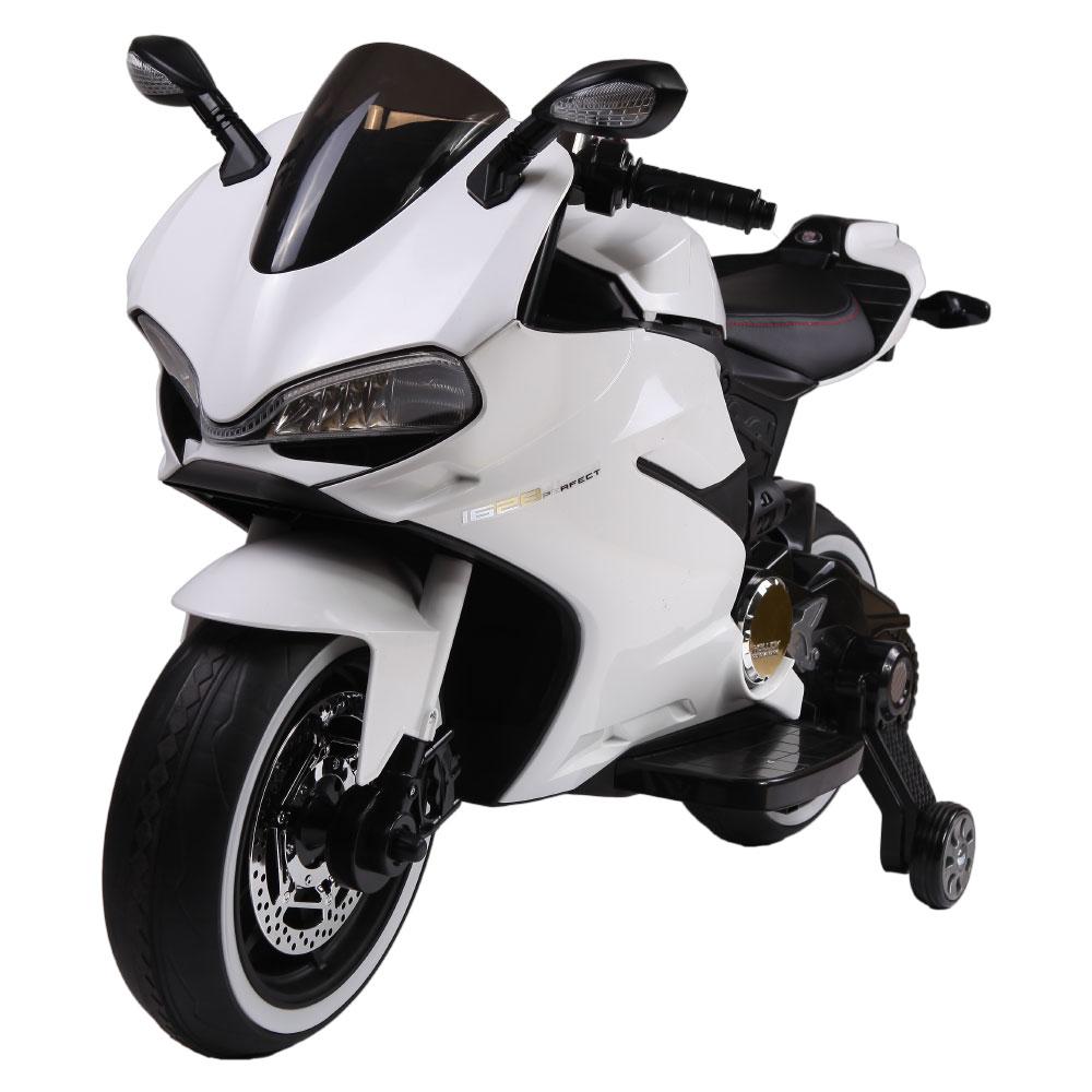 Motocicleta electrica pentru copii SX1628 12V alb - 2