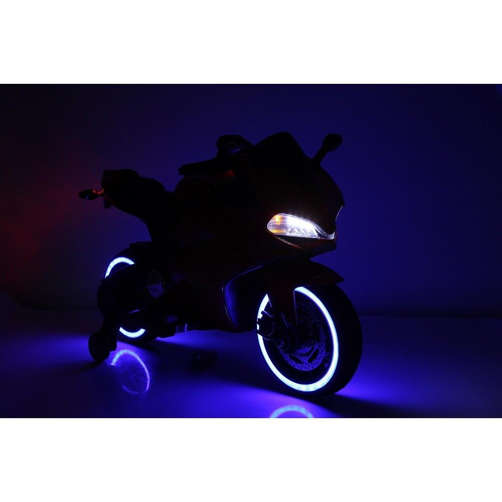 Motocicleta electrica pentru copii SX1628 12V alb - 1