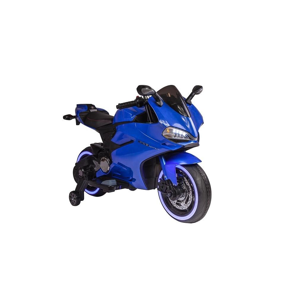 Motocicleta electrica pentru copii SX1628 12V albastru