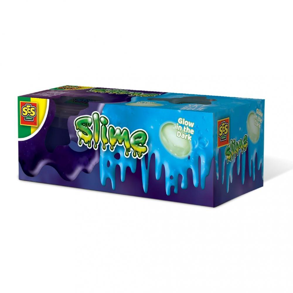 Slime Moonstone Glow in the Dark 2x120gr Ses Creative