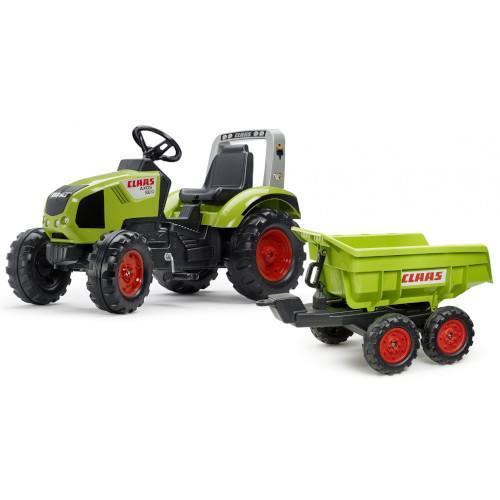 Tractor cu pedale Claas Axos 330 cu remorca Maxi imagine