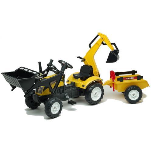 Tractoras Constructor cu Excavator Cupa Remorca Forme Nisip si Accesorii