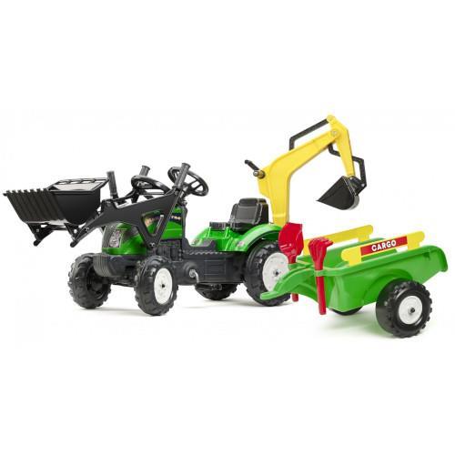 Tractoras Ranch cu Excavator Cupa Remorca Forme Nisip si Accesorii imagine