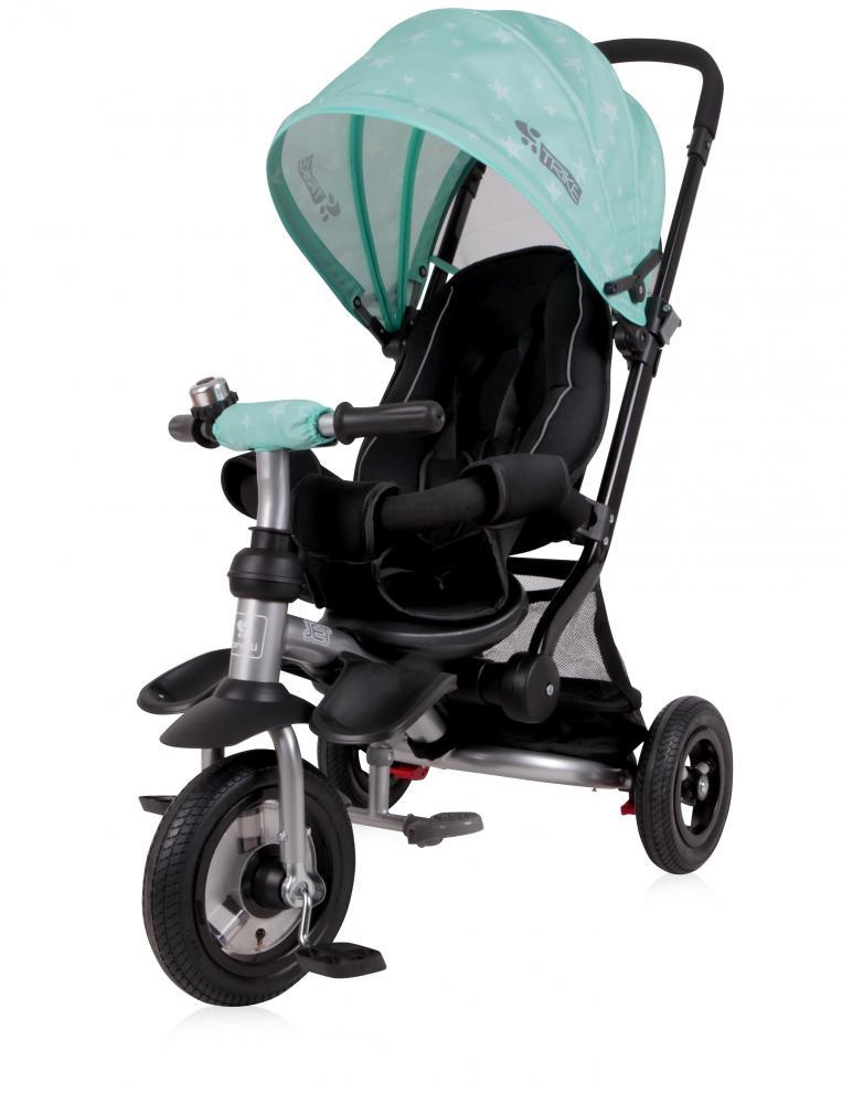 Tricicleta pentru copii Jet Air roti mari cu camera Green Stars imagine