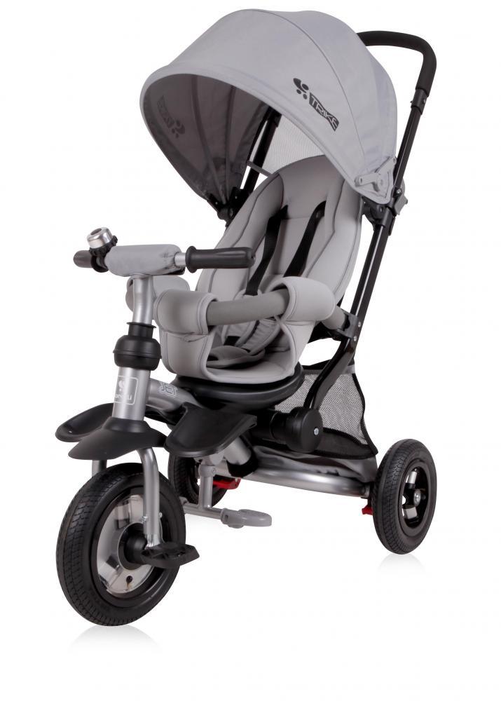 Tricicleta pentru copii Jet Air roti mari cu camera Light Dark Grey imagine