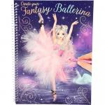 Carte de colorat Create your Fantasy Model Ballerina Depesche