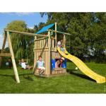 Complex de joaca Jungle Gym Lodge-Playhouse-Swing