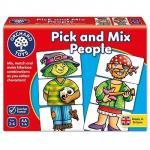 Joc educativ Asociaza personajele Pink And Mix People