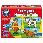 Joc educativ asociere La Ferma Farmyard Heads & Tails