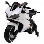 Motocicleta electrica pentru copii SX1628 12V alb