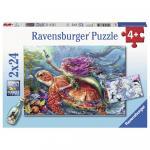 Puzzle Aventura sirenei 2 x 24 piese