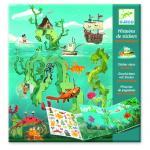 Planse cu abtibilduri repozitionabile aventuri pe mare