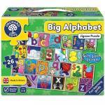 Puzzle de podea in limba engleza Invata alfabetul (26 piese - poster inclus)