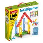 Set constructie Link Bloc 12 piese Quercetti pentru copii