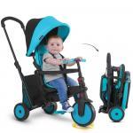 Tricicleta pliabila cu Tehnologie Touch Steering smarTfold 300 Plus, Albastru