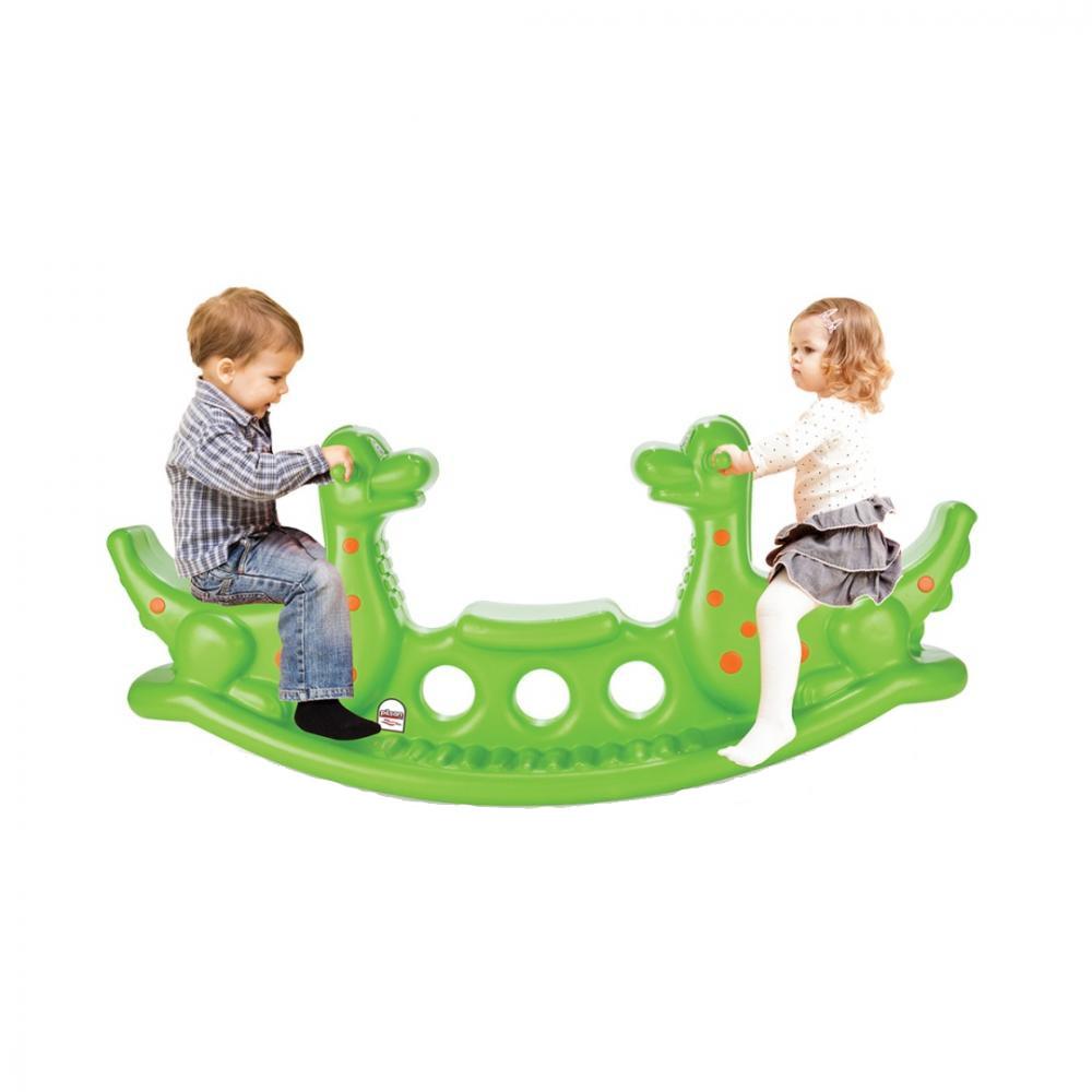 Balansoar Pentru Copii Dino Seesaw Green Nichiduta Ro