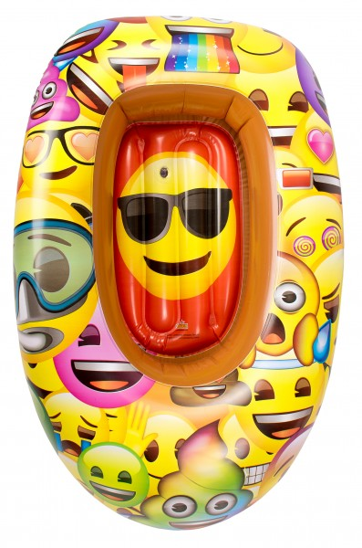 Barca gonflabila pentru copii Saica 90cm Emoji imagine