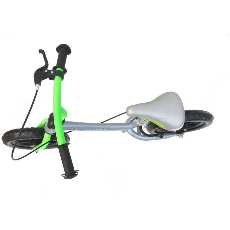 Bicicleta fara pedale 12 inch Explorer Mamakids Gri cu Verde