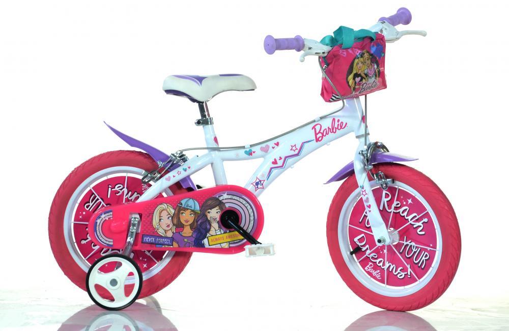 Bicicleta pentru fetite Barbie diametru 16 inch