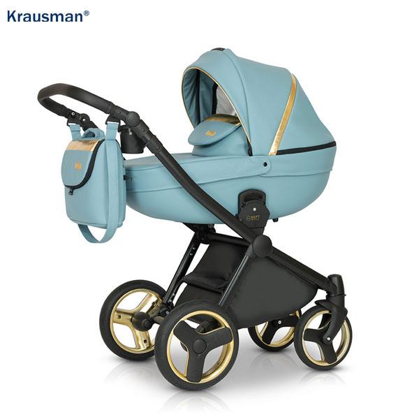 KRAUSMAN Carucior 3 in 1 Prime Mirage Blue Gold