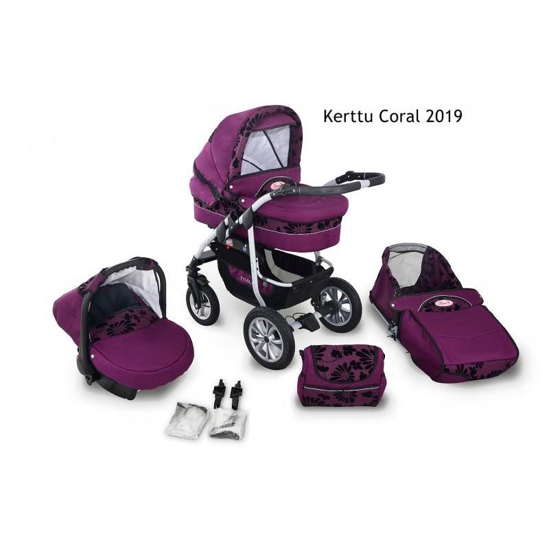Carucior Kerttu Coral 2019 3 in 1 - 1